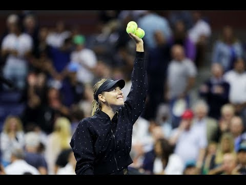 Maria Sharapova stuns Simona Halep in US Open first round: highlights