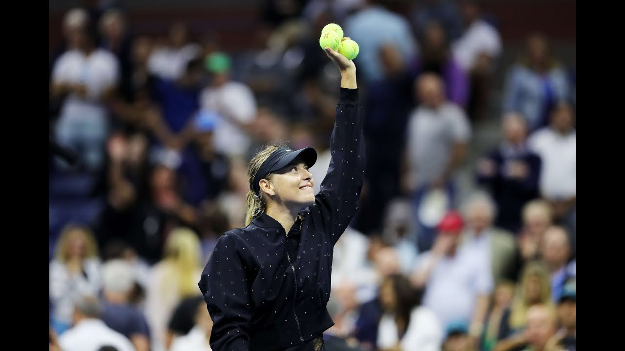 Maria Sharapova stuns Simona Halep in US Open first round: highlights