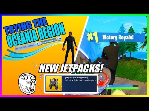 TRYING THE OCEANIA REGION also JETPACKS COMING TO FORTNITE!!! (Fortnite Battle Royale)