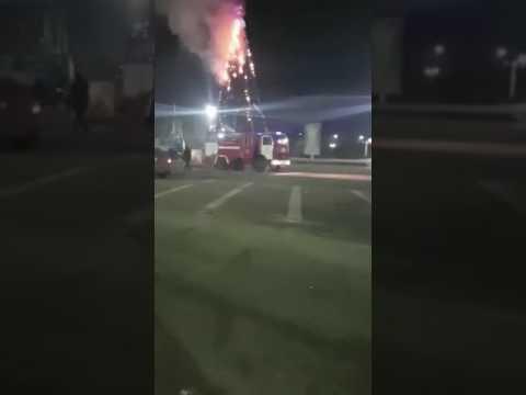 Загорелась главная новогодняя елка Капшагая