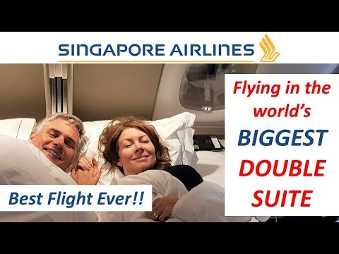 World's BIGGEST Double Suite - Singapore Airlines A380 First Class