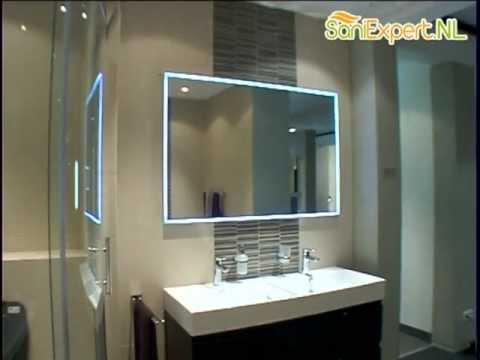 Santique pl - Ob - Spiegel 120x80cm. bxh led verlichting - YouTube