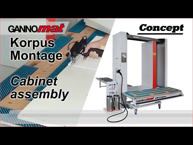 Gannomat cabinet case assembly process
