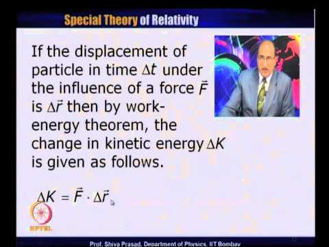 Mod-01 Lec-20 Force in Relativity