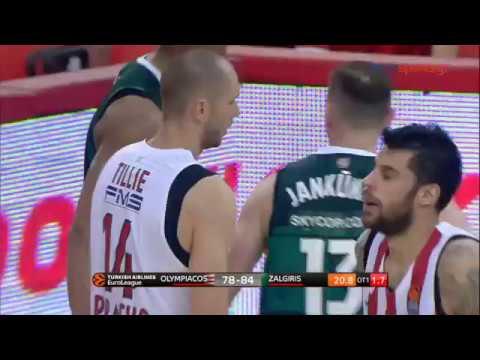 Ολυμπιακός - Ζαλγκίρις Κάουνας 78-87 1ος Αγώνας Playoffs Euroleague (highlights + Παράταση)