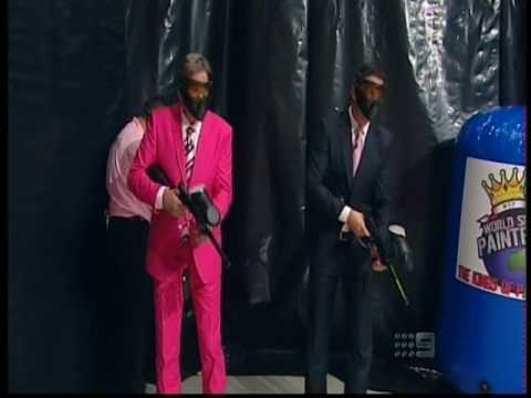 AFL Footy Show   Shane Crawford cops Paintballs Pink Show 2010
