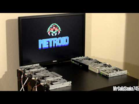 Metroid - Brinstar on Eight Floppy Drives