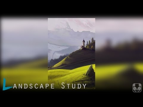 Digital Painting Study | Hill Chappel | Photoshop timelapse