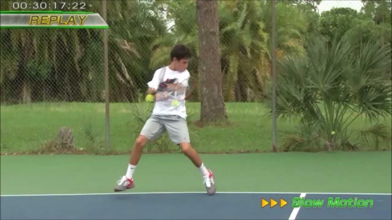 オープン スタンス テニス
