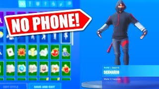 HOW TO GET SCENARIO EMOTE WITHOUT GALAXY S10 IN FORTNITE!