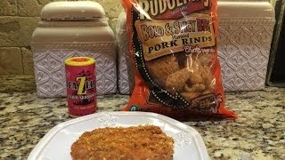 No Carb Pork Rind Crusted Pork Chops W/ Beazell's