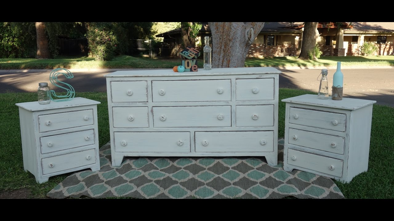 Superbe Redoing Furniture: Dresser And Two Nightstands