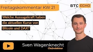 Welche Aussagekraft haben die aktuellen Kurse von Bitcoin und DAX?