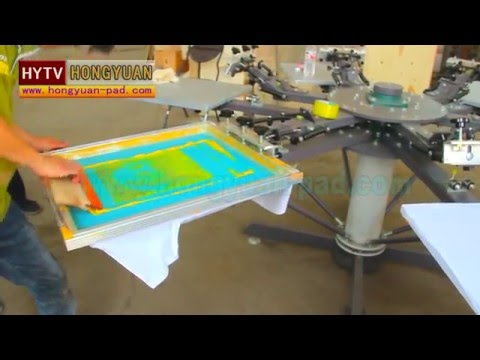8 Color T Shirt Screen Printing Machine With Micro Registration