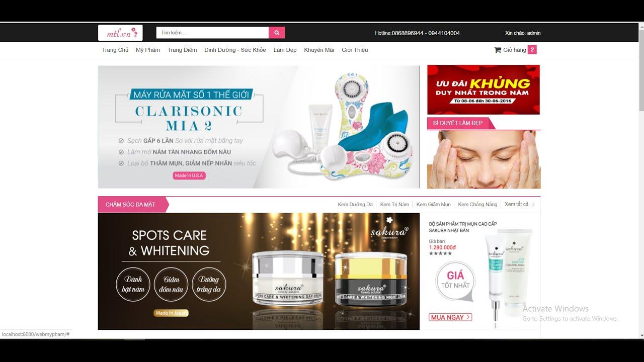 [Chia sẻ source free] Source code bán hàng mỹ phẩm cực đẹp php + hướng dẫn cài đặt