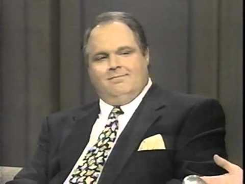 Rush Limbaugh 1993 The David Letterman show