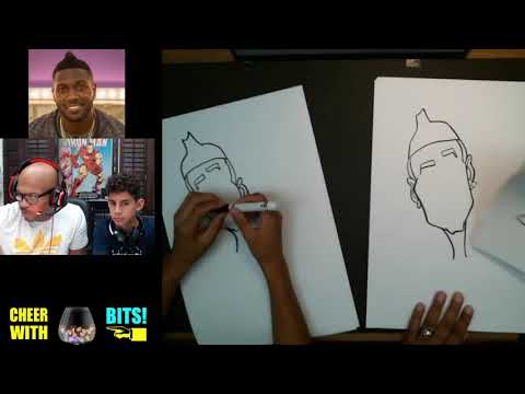 Drawing Caricatures with My Nephew - Antonio Brown
