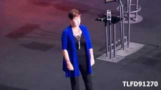 Joyce Meyer -New Puppy Daisy Mae Meyer and I love you -Giant Center Hershey, PA 2013