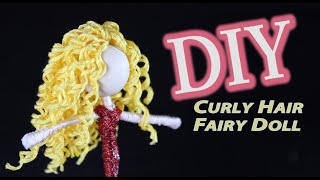 DIY Doll with Curly Hair