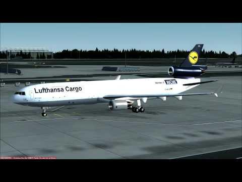Lufthansa Cargo MD-11 at Frankfurt Parking Pos.