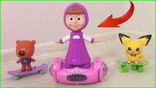 Маше подарили ГИРОСКУТЕР! Кеша НЕ ХОЧЕТ ДЕЛИТЬСЯ? Мультики с игрушками для детей