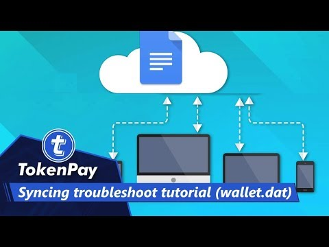 TokenPay l Syncing troubleshoot tutorial (wallet dat)
