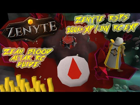 Zenyte RSPS | Blood Runecrafting Guide 200k+ EXP / INV