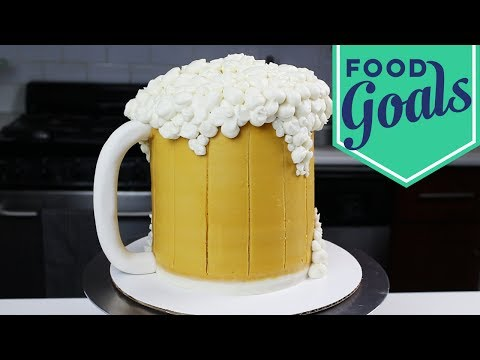 How to Make a Foamy Beer Stein Cake | Food Network