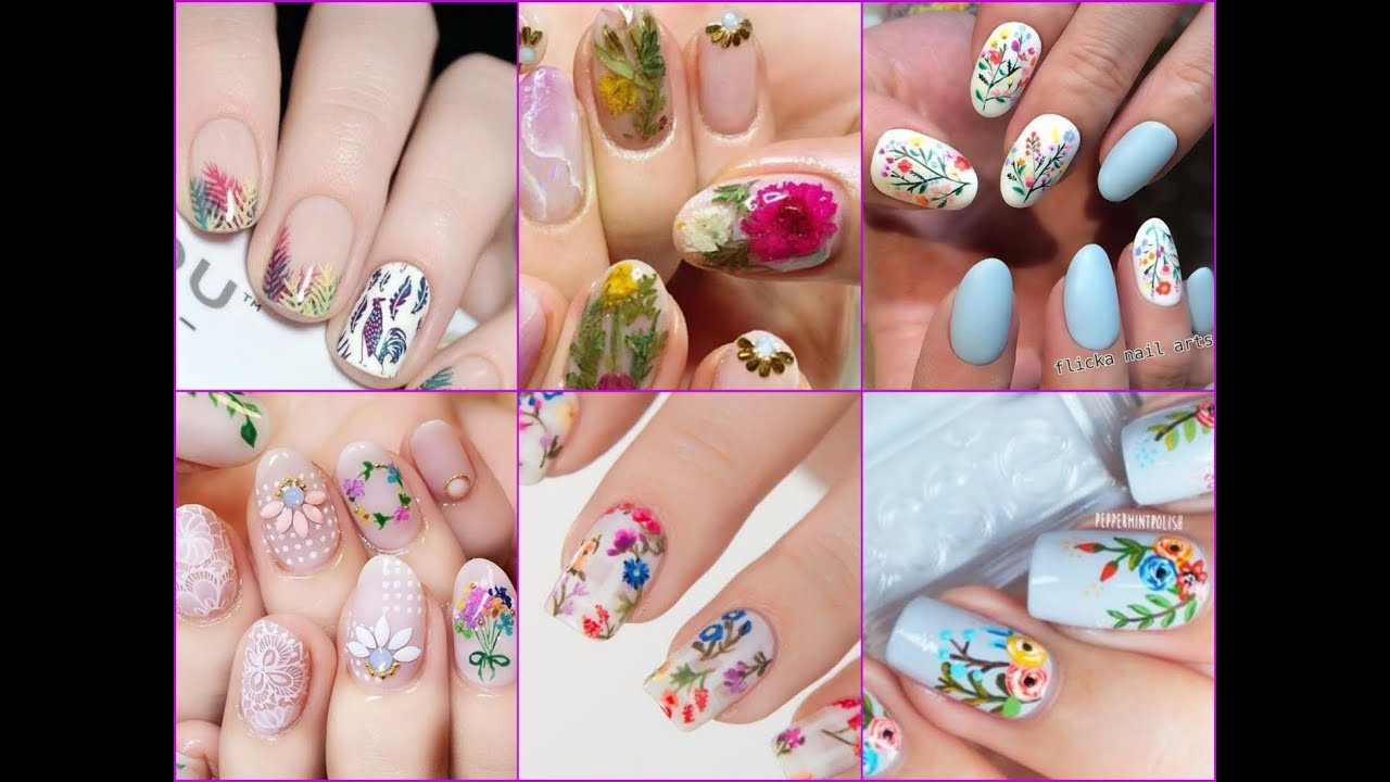 50 Best Floral Nail Design Ideas For Spring Summer 2018 Youtube