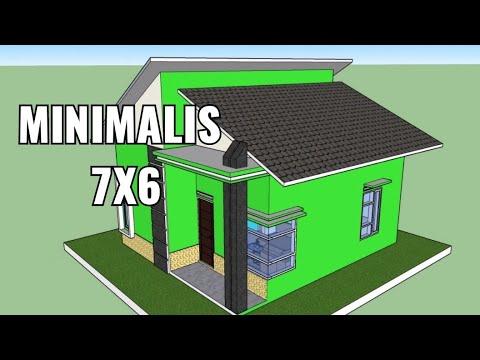 Desain Rumah Minimalis 7x6 Dengan 2 Kamar Tidur Youtube