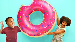 Bad Kids STEAL DADDY'S GIANT DONUT - Shiloh And Shasha - Onyx Kids