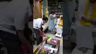 Kalaignar played cricket with his grandson today