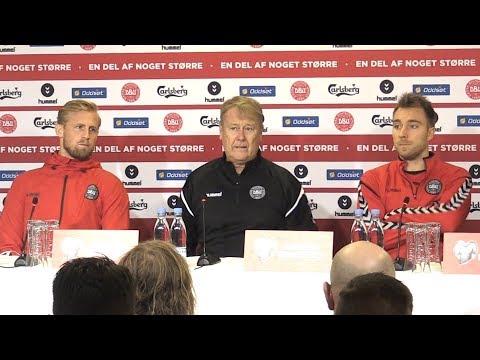 Åge Hareide, Christian Eriksen & Kasper Schmeichel Full Press Conference - Denmark v Ireland