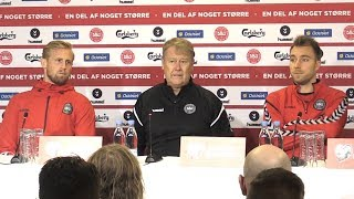 Åge Hareide, Christian Eriksen & Kasper Schmeichel Full Press Conference - Denmark v Ireland