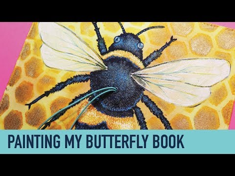 Bee Journal | PAINTING A TRAVELER'S NOTEBOOK COVER