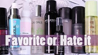 FIXING, SETTING & MISTING SPRAYS | Favorites & Hate its