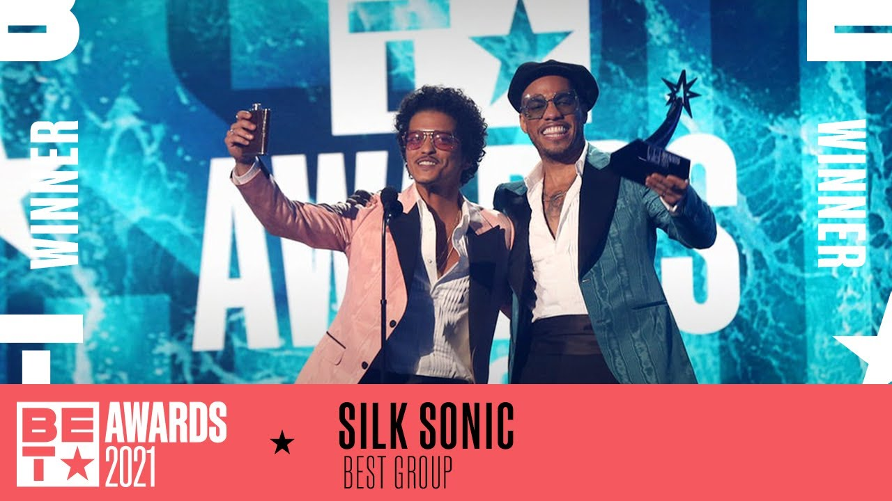 Silk Sonic Wins Best Group At BET Awards 2021!