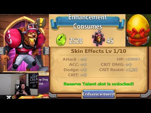 Skin Effects Maxed Out BONUSES Lucky Flip + Egg Smash Castle Clash