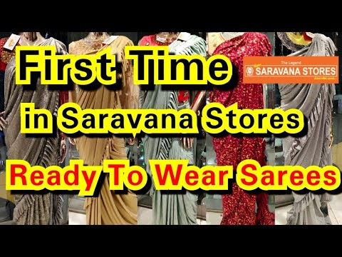 First Time In Saravana Stores Ready To Wear Saree Collections    Readymade Sarees With Price