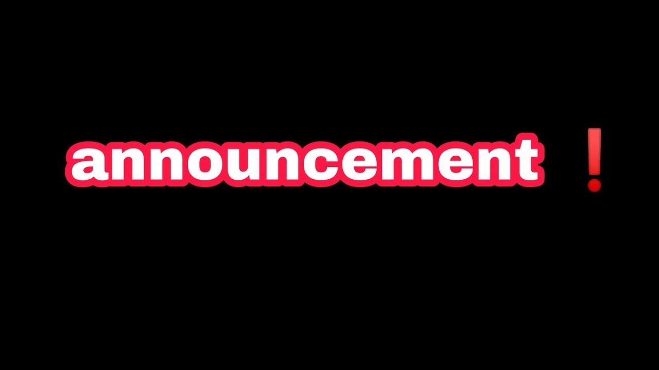 announcement ❗