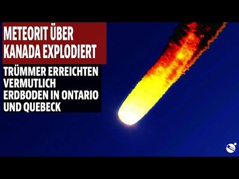 Meteorit über Kanada explodiert - Vermutlich Trümmer in Ontario und Quebeck