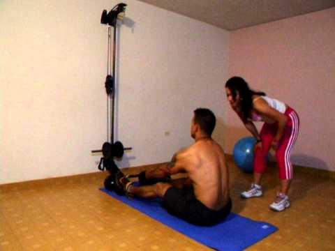 Xs home gym gimnasio casero espalda remo con cable for Gimnasio casero