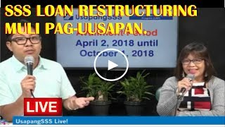 SSS MEMBERS AVAIL N'YO NA PO ANG LOAN RESTRUCTURING PROGRAM.