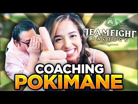 COACHING POKIMANE | Teamfight Tactics