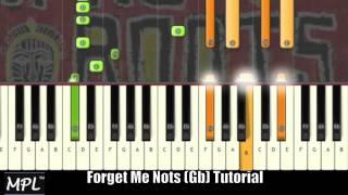 "♫ Patrice Rushen "" FORGET ME NOTS"" Piano Tutorial in Gb Minor Video ♫"