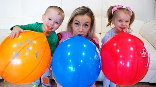 Learn Colors With Balloons for Children - Learning Colors with Funny Baby for kids