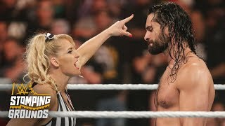 Lacey Evans angers Seth Rollins with slow count WWE Stomping Grounds 2019 WWE Network Exclusive