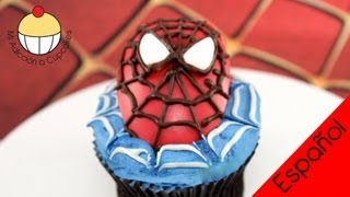 ¡CUPCAKES DEL HOMBRE ARAÑA! Decora Cupcakes del Hombre Araña -- Cupcake Addiction