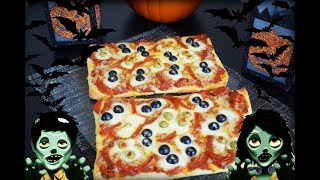 Pizza Para el Dia de Brujas, Receta, como Halloween