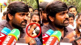 கோபப்பட்ட விஜய் சேதுபதி | Vijay Sethupathi Gets Angry with Media | Seethakathi